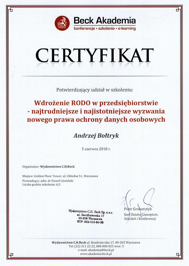wdrożenie RODO w przedsiębiorstwie Białystok